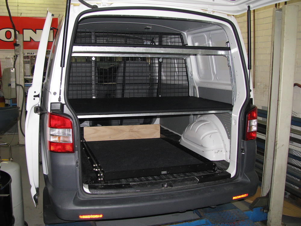 Custom Fit Out For A Tv Crew With A Vw Transporter