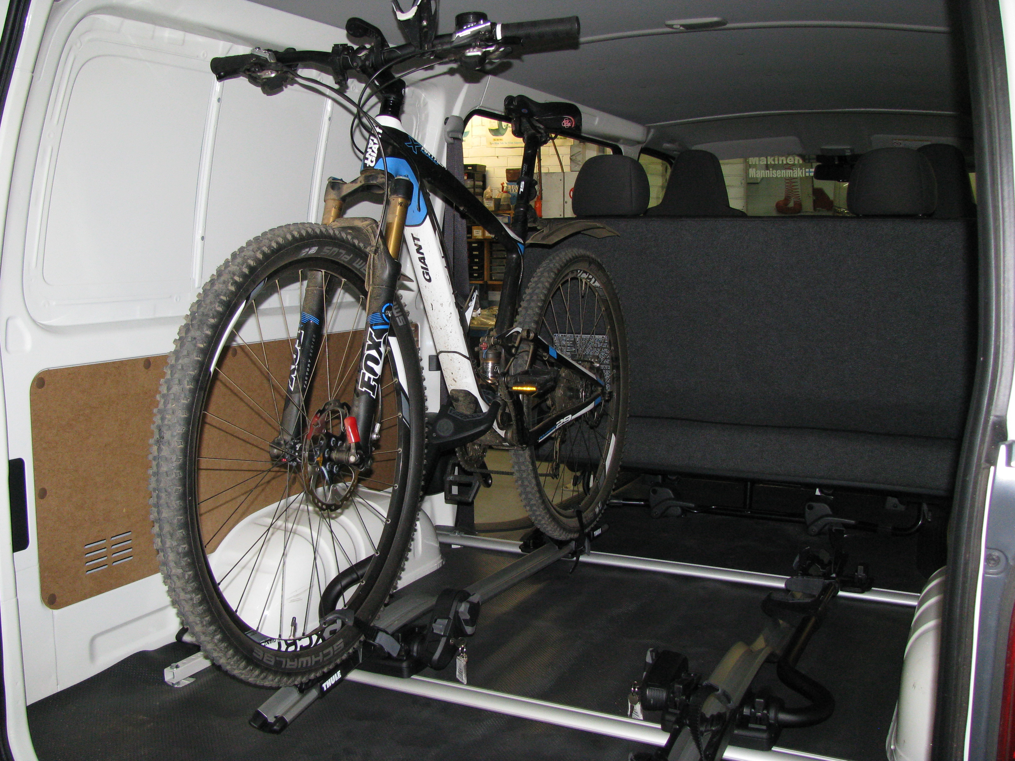 Thule 598 Bike Racks Fitted Inside Toyota Hiace Poleposition